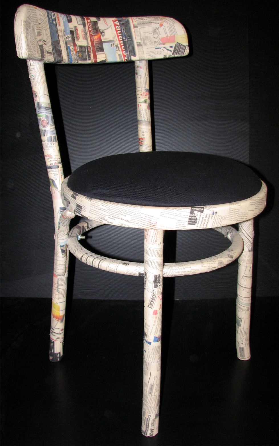 Four ... : newspaper chair - Cheerinfomania.Com